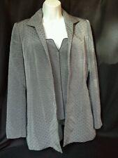 Women's Dana Buchman size 2 grey and navy blue blazer and corset top