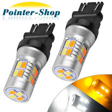 2 X Dual Color 3157 High Power Yellow White 5730 20 LED Switchback Light Bulbs
