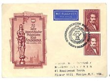 EE20 1950 Austria Wien NY USA FDC Stationery With Stamp Added Cover PTS