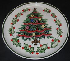 Collector Plate Geo Z Lefton Christmas Tree #1096 Hand Painted Porcelain Gold