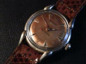 1950'S BENRUS POWER WIND INDICATOR MENS  WRISTWATCH, VERY GOOD COND.