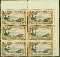 Nouvelle-Zélande 1942 3s Chocolat & Yellow-Brown SG590cvar Majeur Rentrée CP