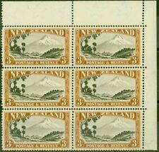 New Zealand 1942 3s Chocolate & Yellow-Brown SG590cvar Major Re-Entry CP L14g...