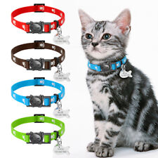 Break Away Cat Collar Personalised Safety Adjustable Nylon Collar with ID Tag