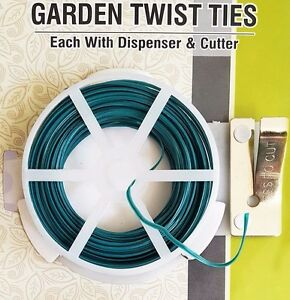 Garden Twist Plant & Wire Cutter 30M Guillotine Dispenser Tie Flexible UK Stock