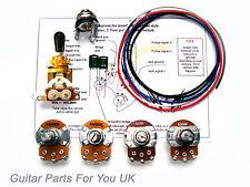 Les Paul wiring kit de oro 500k TAMAÑO COMPLETO Kit de cableado Lp ollas actualización 0.022uf Caps
