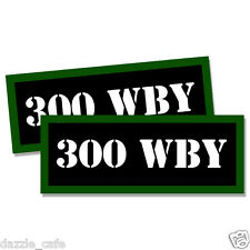"""300 WBY Ammo Can 2x Labels Ammunition Case 3""""x1.15"""" stickers decals 2pack"""