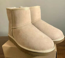 UGG CLASSIC MINI II 1016222 SAND WOMAN'S BOOTS, SIZE 5 AUTHENTIC BRAND NEW.