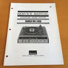Sansui MQ-2000 Music Center Repair / Service Manual Schematics Factory Original