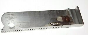 VINTAGE LETTERPRESS PRINTING COMPOSING STICK H.B. ROUSE 33 PICA STAINLESS STEEL