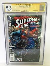 SUPERMAN UNCHAINED #1A CGC SS 9.8 SIGNED BY JIM LEE & SCOTT SNYDER 1598517005