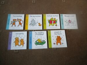 WORLD OF HAPPY ~ GILES ANDREAE 7 x PB Book BEARS, CRICKET, FOOTBALL, COW, MONKEY
