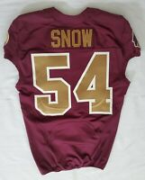 #54 Justin Snow of Redskins NFL Locker Room Alternate Game Issued Jersey