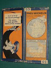 Carte MICHELIN n° 59 Saint-Brieuc Rennes 1930