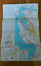 1977 Hertz Rent Map San Francisco California International Airport Monterey Bay
