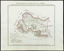 1802 - Mapa antigua departamento las bocas de los Rhône de Chanlaire