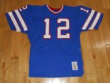 Vintage 80's Sand-Knit JIM KELLY Blue BUFFALO BILLS Authentic NFL Team JERSEY 44