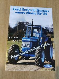 FORD 10 SERIES TRACTORS MORE CHOICE FOR 84 COLOUR FARMING PRE USED BROCHURE VGC