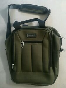 Eddie Bauer Messenger Tote Travel Olive Green Bag  14 x 12 in