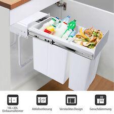 Abfallbehälter für Küchenschrank Einbau-Mülleimer Mülltrennung 30L Abfallsorte