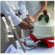 Wedding Cake Knife Spatulas Set Stainless Steel Anniversary Parties Tableware