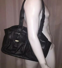 Pre-Owned Guaranteed Auth YSL Black Leather SAINT LAURENT Satchel Retail $3600