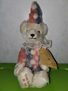 1994 Limited Edition Hermann Clown Yes No Mohair Bear