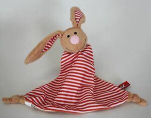 Schmusetuch Knax mini Hase rot weiß gestreift