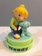 ☀️Bob the Builder WENDY & PITCHARD Kitty Cat Figure Ink Stamper Cake Topper RARE