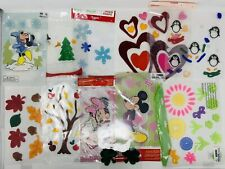 LOT of Holiday Window Clings - Gel - Disney - Thanksgiving Christmas Valentines