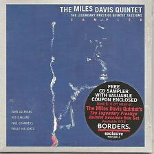 MILES DAVIS Prestige Rare 4TRK CARDED SAMPLER w/ UNISSUED TRK PROMO CD SEALED