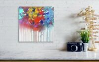 Gallery Price $200 10*10 Canvas original hand-painted Abstract acrylic painting
