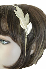 Women Headband Gold Metal Long Leaf Fashion Hair Accessory Wedding Style LookWom