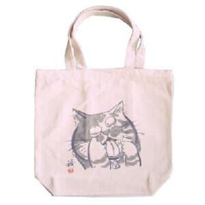 Japanese Durable Canvas Tote Student Women Shoulder Bag Handbag Cotton Cat Face