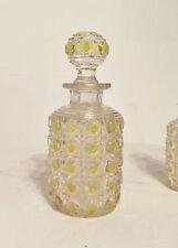 Flacon Parfum Cristal BACCARAT Modèle PIERRERIES DIAMANTS Couleurs Nécessaire TB