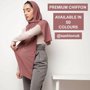 Chiffon Scarf Hijab Premium Quality Head Scarf Summer Elegant Sarong Shawl Wraps