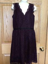 Loft Plum Lace Dress Size 2
