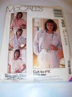 WOMENS UNCUT MCCALLS Sewing Pattern P913 BLOUSE BUTTON FRONT SHIRT SIZE 10 12 14
