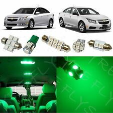 7x Green LED lights interior package kit for 2011-2015 Chevy Cruze CC2G