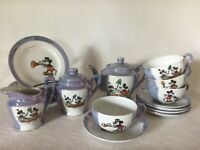 Vintage Japanese MICKEY MOUSE 18 Piece Children's Child's Toy Dishes Tea Set