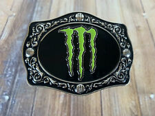 Monster Energy Belt Buckle Mason Lowe Autograph Bull Rider RARE!!!
