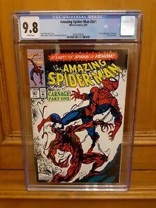 Amazing Spiderman 361 CGC 9.8 1st App of Carnage! Venom Spider-Man Symbiote