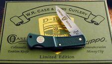 Case D Day Normandy 50th Anniversary Knife 1994 Set & Zippo Money Clip NOS! NR