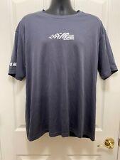 Joe Gibbs Racing Team Issued Grey Short Sleeve Athletic Shirt Size Lg