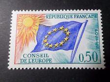 FRANCE, 1963-71, timbre SERVICE 33, CONSEIL EUROPE, DRAPEAU, neuf**, MNH FLAG