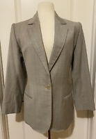 Yves Saint Laurent Rive Gauche Gray Wool Jacket/ Blazer-Sz 40~Made In France~