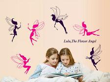 Flower Fairy Elf Wall Sticker Kids Nursery Room Decal Home Decor
