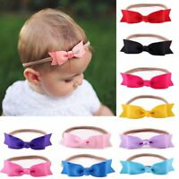 Infant Baby Girls Bow Headband Hairband Soft Elastic Hair Accessories Baby Gift
