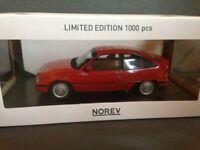 4 x Opel Kadett E GSi 2.0i 1987 ROT + WEIß + SILBER + SCHWARZ Norev neu OVP 1:18