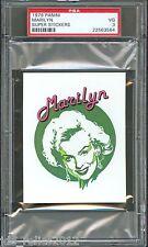 1979 Panini Super Stickers MARILYN MONROE Gentlemen Prefer Blondes PSA 3